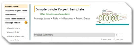 Single Project Template